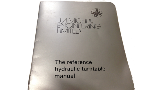 The Reference Hydraulic Turntable Manual